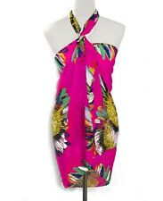 Stylish Sunflower Design Sarong - Scarf Pareo Beachwear Beach Dresses Wrap Pink