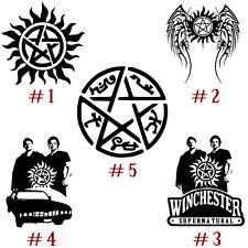 Supernatural Vinyl Decal Sticker Anti-Possession Symbol Sam Dean Winchester Car