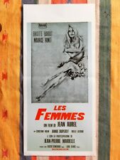 Locandina LES FEMMES 1'Ediz.1969, Brigitte Bardot, Jean Aurel, Poster Affiche 2F