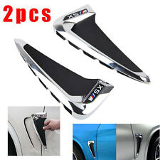 Side Body Marker Fender Air wing Vent Trim M Cover Chrome For BMW X5 F15 2017+