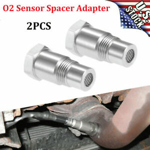 2x O2 Oxygen Sensor Spacer Adapter Bung Catalytic Convert Fix Check Engine Light
