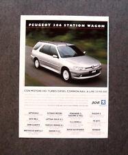 [GCG] I717- Advertising Pubblicità - 2000 - PEUGEOT 306 STATION WAGON