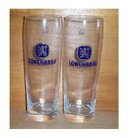 LOWENBRAU 2 SIGNATURE TUMBLER STYLE 0.5L BEER GLASSES NEW FROM GERMANY