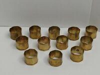 12- Vintage BRASS Napkin Rings