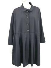 New Du Jour Jacket Womens 3X Black Long Sleeve Pleats Plus Size QVC