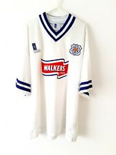 Leicester City Away Shirt 1996. XL. White Adults Football Top Only Short Sleeves