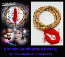 Thai Amulet Nirvana Sandalwood Rosary 108 beads holy spirits By Phra Arjarn O