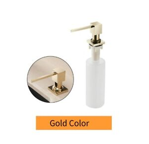 Deck Mounted Kitchen Soap Dispensers 400ml Square Pump Chrome Finish Counter Top