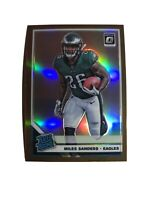 2019 Donruss Optic Miles Sanders RC Rated Rookie Card #172 Bronze Prizm Eagles