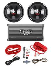 """2 BOSS P106DVC 10"""" 4200W Car Subwoofers Subs + 1600W 2-Ch Amp + 8 Gauge Amp Kit"""