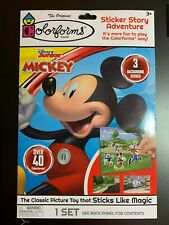 COLORFORMS DISNEY MICKEY MOUSE STICKER STORY ADVENTURE SET CLASSIC KIDS TOY FUN!