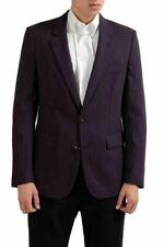 Maison Martin Margiela Men's 100% Wool Burgundy Sport Coat Blazer US 38 IT 48