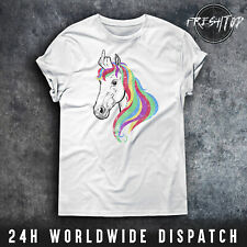 Unicorn T Shirt Middle Finger Rainbow Pride Legendary Heavy Metal Unicorn