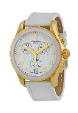 Swiss Army Chrono Classic Gold Tone Steel Womens Strap Watch White Dial 241511
