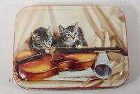 Vintage George Horner Red Tin - Cats Kittens with Violin and Music