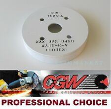 "CGW Plate Mounted Grinding Wheel- Size: 6""x 1""x 4"" Grit: 46-K, White AO"