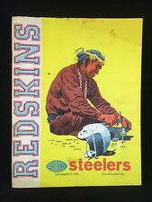 Washington Redskins The Redskin Magazine NFL Illustrated Pittsburgh Steelers VTG