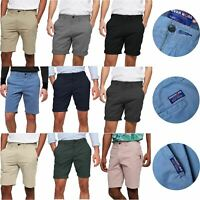 Mens Stretch Chino Shorts Stitching Detail Cargo Combat Half Pant Summer New