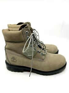 TIMBERLAND Women's Gray Suede Boots Waterproof Lace Up  Rubber Sole Size 7