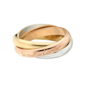 """Cartier """"Les Must de Cartier"""" Trinity Ring in 18K Yellow, White & Rose Gold."""