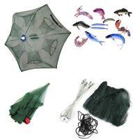 Magic Fishing Trap 6 Holes Full Automatic Folding Shrimp Cast Cage Crab Fish Net