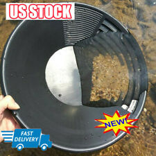 Estwing Geological Plastic Gold Pan Panning 385cm 15 Inch Black Prospecting Lo