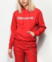 Obey Women's International 2 Red Hoodie Sweatshirt Size XS