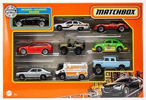 2021 Matchbox 9-Pack w/Exclusive Chrysler 300 / Volvo V60 / '76 Corvette / MIB