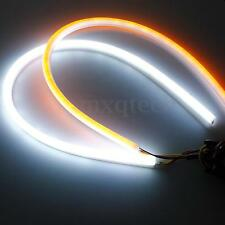 2x 45cm Flexible Car Soft Tube LED Strip Light DRL Switchback Turn Signal Lamp