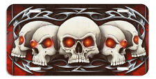 Tribal Skulls Swords Auto License Plate Gifts Men Skull Goth Metal