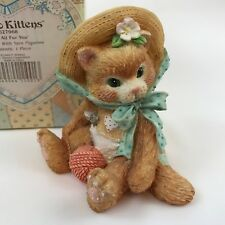 Calico Kittens I'm All Fur You 627968 Tan Cat w/Ball of Yarn Valentines Heart