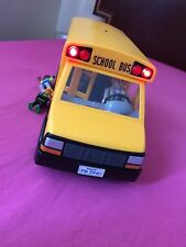 Rare vtg Play mobile School Bus with Flashing Lights And Children & Driver  5940