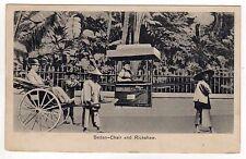HONG KONG PC Postcard SEDAN CHAIR Rickshaw CHINA Chinese HONGKONG Sternberg 1917