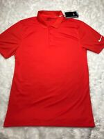 Nike Victory Solid Mens GOLF Standard Fit Golf Polo TEAM Orange/white 725518-891