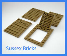 Lego - 4x Dark Tan Trapdoor 92099 92107 Castle City Star Wars Pirates New Pieces