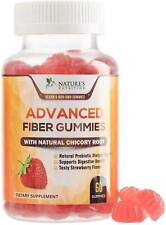 Nature's Nutrition Fiber Gummies for Adults Extra Strength Inulin Gummy 3000mg
