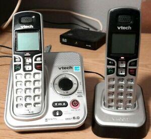 Vtech Single Line Cordless Digital Answering Phone System Dect 6.0 Model CS6229