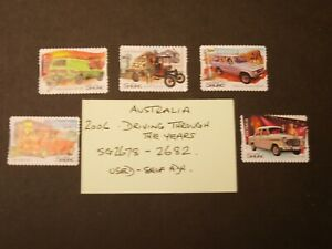 Australia 2006 Driving Through the Years SG 2678 to 2682  Used Self Adhesive