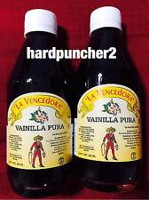 Two Bottles Mexican Vanilla La Vencedora 8.45 oz. Each