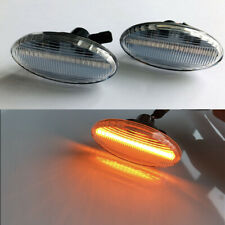 2x Amber LED Clear Side Indicator Marker Turn Signal Light For Mazda 2 3 5