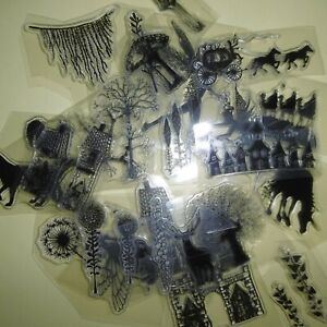 **CLEAR STAMPS*Bundle*LOTS x 18 Stamps** Animals*Trees*Flowers*++*