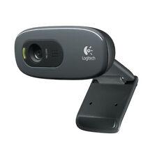 Logitech C270 HD Webcam with 3MP 720P HD Camera + Built in Mic