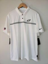 Nike NFL Eagles Dri Fit On Field Apparel Size XL Golf Polo White CI3405-100 NWTs