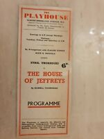 THEATRE PROGRAMME THE HOUSE OF JEFFREYS - RUSSELL THORNDIKE JUDITH NELMES