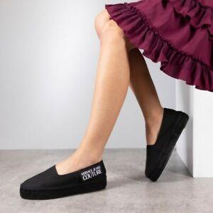 Versace Jeans Couture Logo Espadrilles - Black Size UK 5/EUR 38