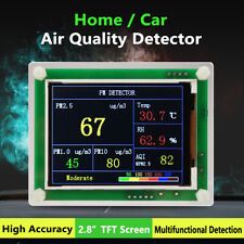 2.8'' TFT PM1.0 PM2.5 Detector Air Quality Tester Meter Monitor Sensor