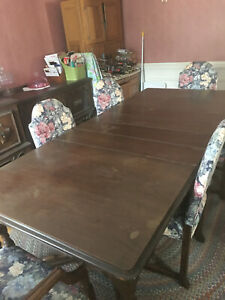 Antique 1920's 10-piece Grand Rapids MFG Co. Dining Room Set - 6 chairs