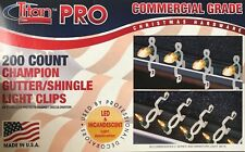 200 Dyno / Titan Pro Commercial Grade Champion Gutter/Shingle Light Clips - New