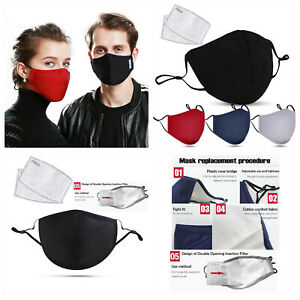 Face mask with PM2.5 filter insert.  Washable reusable mask. Unisex, ladies mens