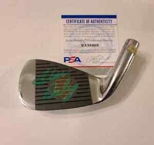 John Daly Signed IRON Golf PGA PSA COA Autograph RARE TIGER WOODS GREEN PAINT